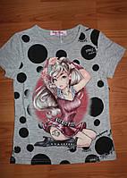 Летняя футболка для девочки 116р