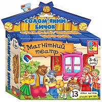 Развивающая игра, магнитный театр -Соломенный бычок.VT3206-15