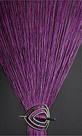 Нити кисея однотонные фиолетовые , фото 1