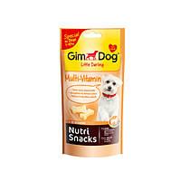 GimDog (Джимдог) NUTRI SNACKS MULTI-VITAMIN 2in1 40г - лакомство мультивитамин для маленьких собак (до 10кг)