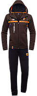 Мужской спортивный костюм с капюшоном, костюм спортивный коричневый