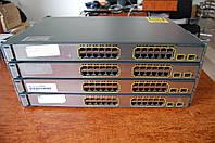 Cisco Catalyst WS-C3750-24PS-S , б/у управляемый коммутатор (свич) с PoE