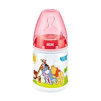 Бутылочка NUK First Choice Disney, 150 мл. (пластик)+ соска NUK, 1 р. (силикон)