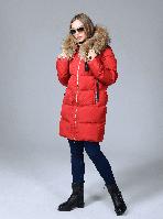 Куртка женская зимняя с натуральным мехом, фото 1