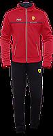 Мужской спортивный костюм красный с черным, демисезонные костюмы мужские