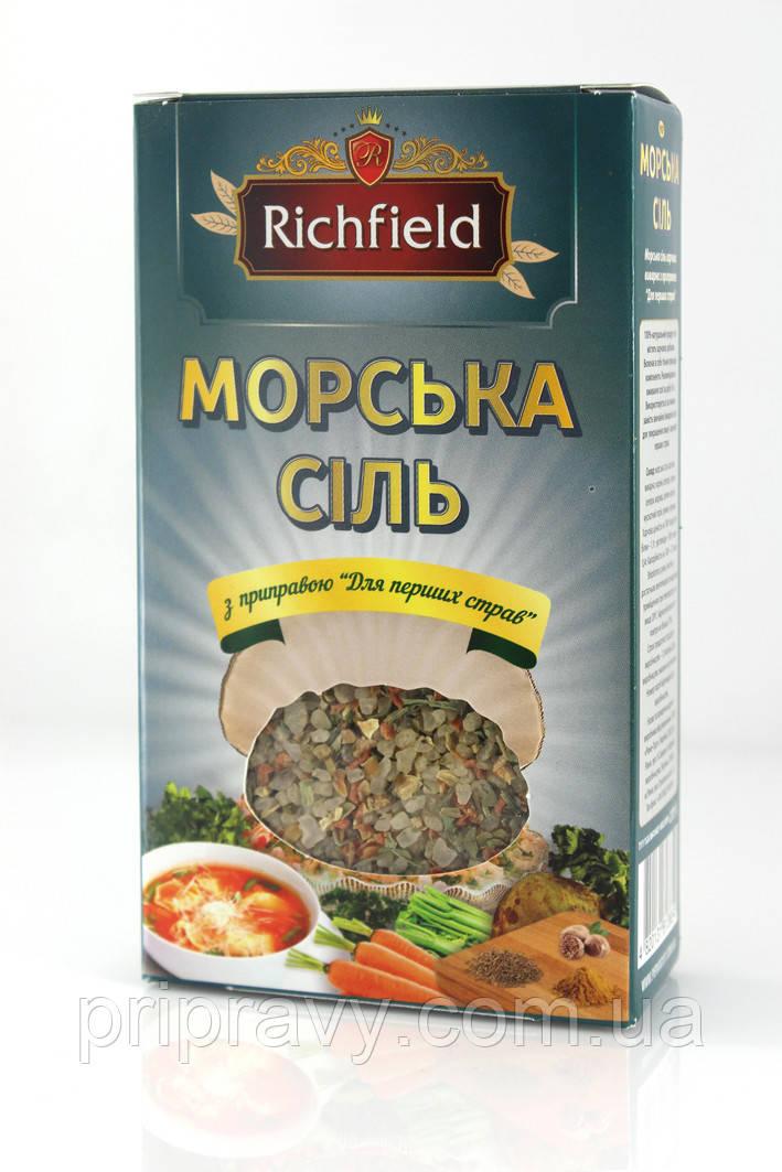 Морская соль с приправой к первым блюдам ТМ Richfield, 200 г