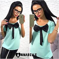Блуза (S-M, M-L) — креп-дайвинг купить оптом и в Розницу в одессе 7км
