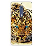 Бампер силиконовый чехол для Nokia 5 с картинкой Гепард, фото 1