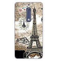 Бампер силиконовый чехол для Nokia 5 с картинкой Башня винтаж, фото 1