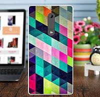 Бампер силиконовый чехол для Nokia 5 с картинкой Ромбы, фото 1