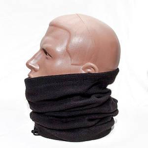 Бафф (шарф-труба) флисовый/ черный