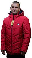 Зимняя мужская куртка в красном цвете