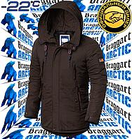 Мужская модная парка Braggart Arctic - 3587 коричневый