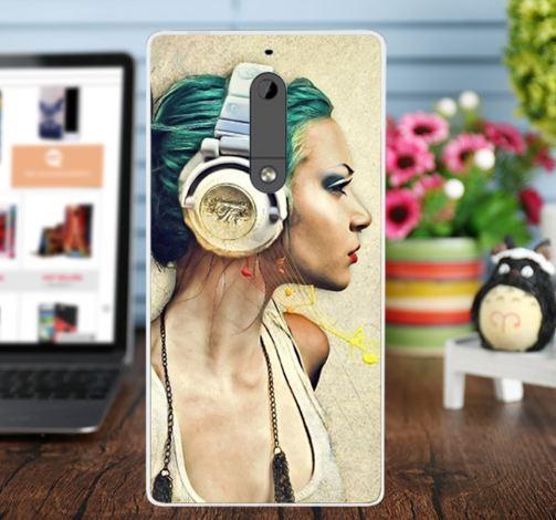 Оригинальный чехол панель накладка для Nokia 5 с картинкой Музыка