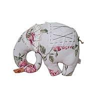 Подушка игрушка декоративная Прованс Large Pink Rose - Слон