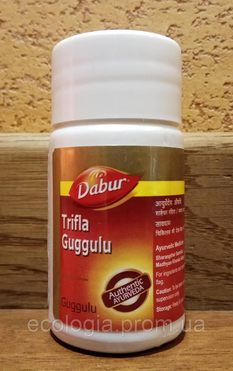 Трифала ГУГГУЛ Dabur 40 табл Trifla Guggulu Индия - мощное средство по очищению и омоложению организма
