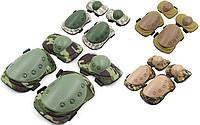 Защитная экипировка тактическая: балаклава, наколенники, налокотники.