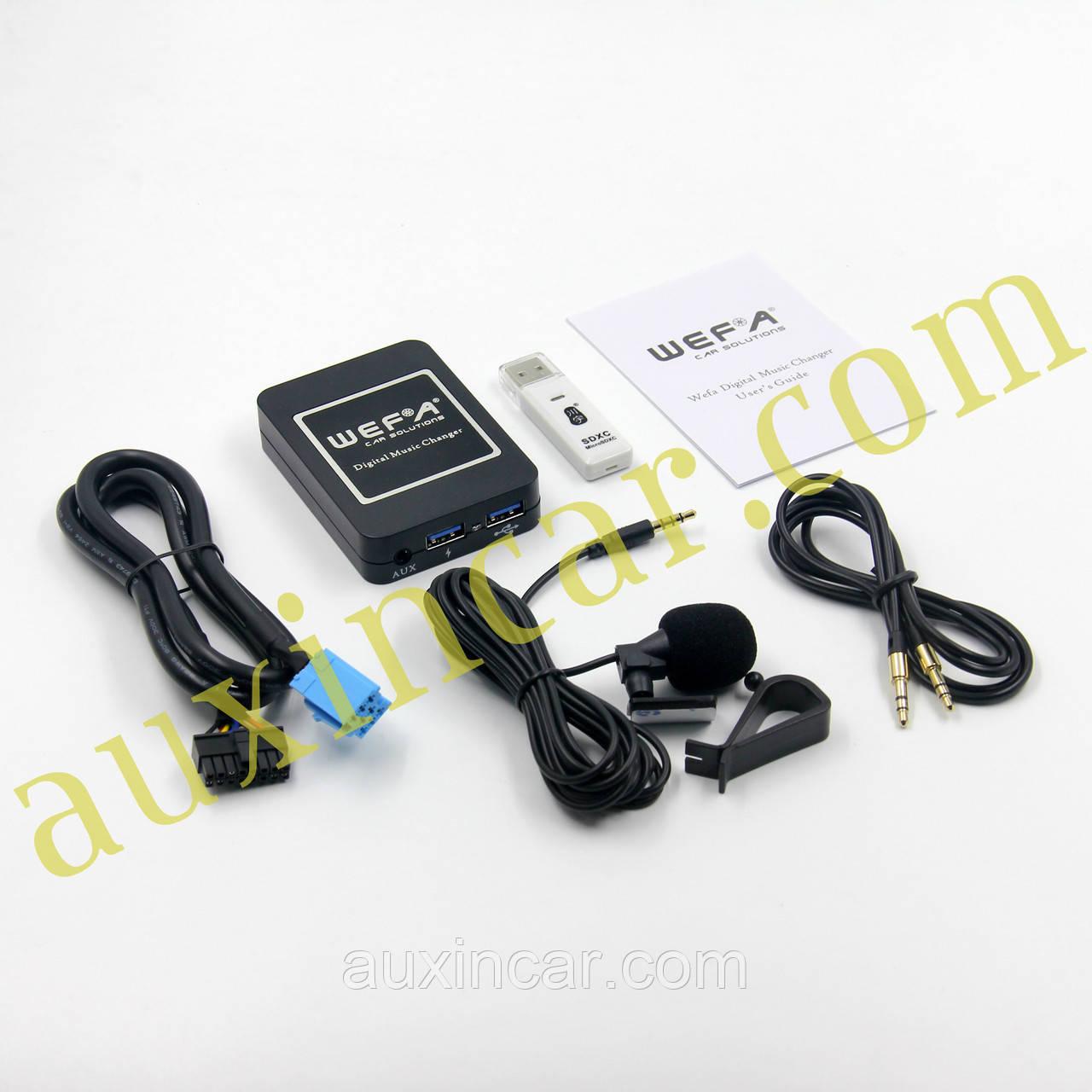 MP3 FLAC usb aux Bluetooth адаптер WEFA для штатной магнитолы Renault 8 Pin