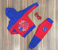 Детский Спортивный Костюм с Маской Человек Паук  Синий  Рост 122-140 см