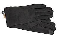 Перчатки замшевые черные СЕНСОРНЫЕ Look