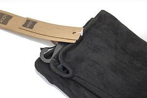 Перчатки замшевые черные Look 215, фото 2