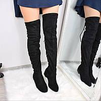 Ботфорты женские Style S черные 3624, осенняя обувь