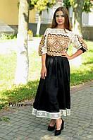 Платье с вышивкой СЖ 1009