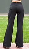 Черные расклешенные брюки с пуговицами, фото 2
