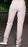 Летние офисные брюки бежевого цвета, фото 2