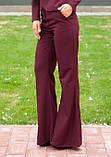Расклешенные брюки бордового цвета, фото 2