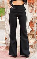 Расклешенные брюки черного цвета