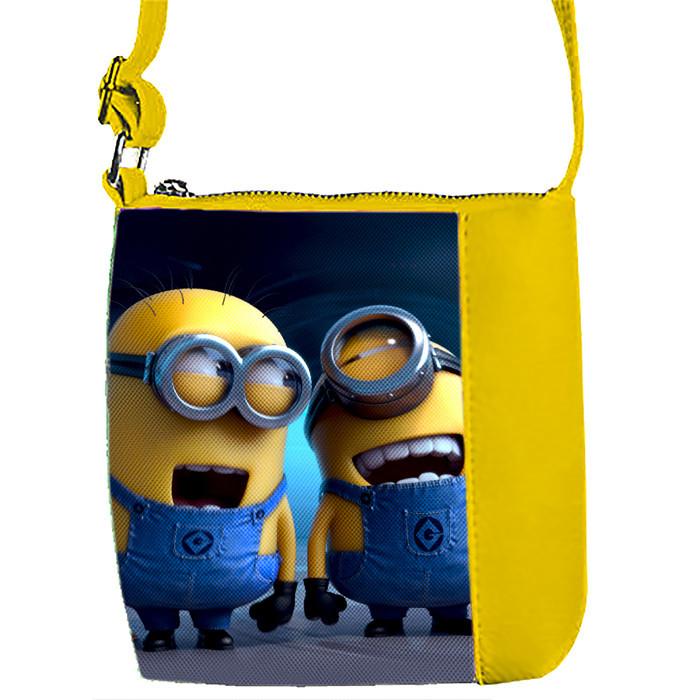Желтая сумка для девочки с принтом миньоны