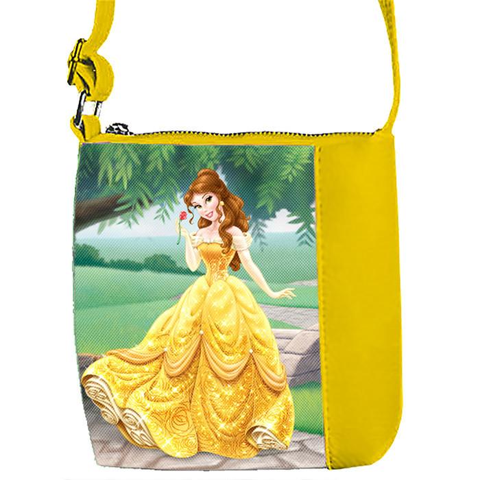 Желтая сумка для девочки с принтом Принцесса Белль