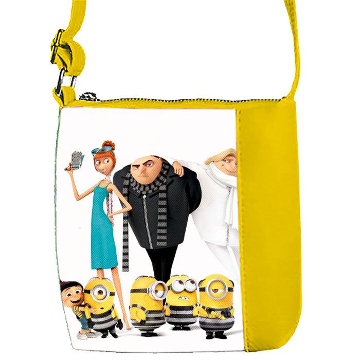 Желтая сумка для девочки с принтом Гадкий Я