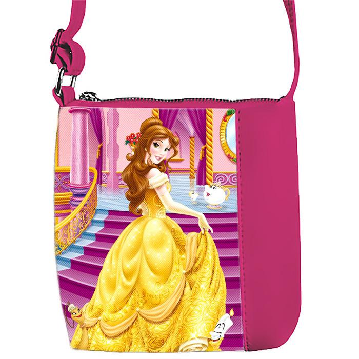 Розовая сумка для девочки с принтом Принцесса Белль
