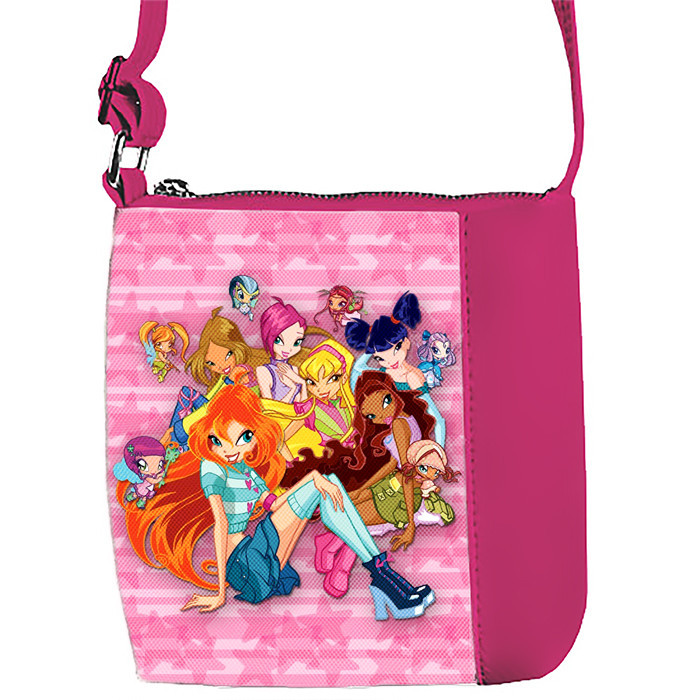 Розовая сумочка для девочки с принтом Клуб Винкс