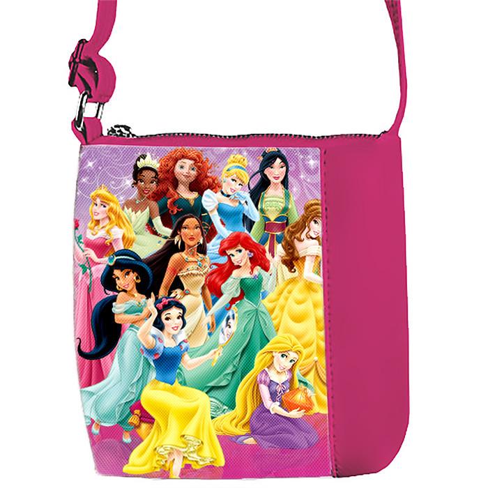 Розовая сумочка для девочки с принтом Диснеевские принцессы