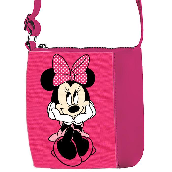 Розовая сумочка для девочки с принтом Минни Маус