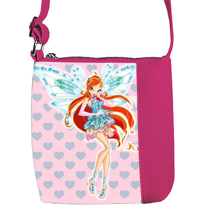 Розовая сумка для девочки с принтом Винкс Блум