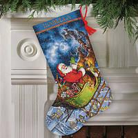 """Набор для вышивания крестом """"Полет Санты//Santa's Flight Stocking"""" DIMENSIONS"""