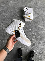 Кроссовки женские Nike Air Jordan AJ 12 CREAM GOLD