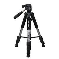 Штатив фирмы ZOMEI для фотоаппаратов - Q111 + головка - цвет металик