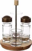 Набор для специй из 5-ти предметов EverGlass 10803-К