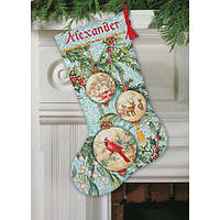 """Набор для вышивания крестом """"Очарованный орнамент//Enchanted Ornament Stocking"""" DIMENSIONS"""