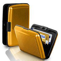 Кошелек-кредитница Aluma Wallet gold (золотистый)