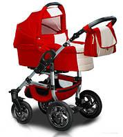 Универсальная коляска 2 в 1 Trans Baby Jumper 15/CR Red / White