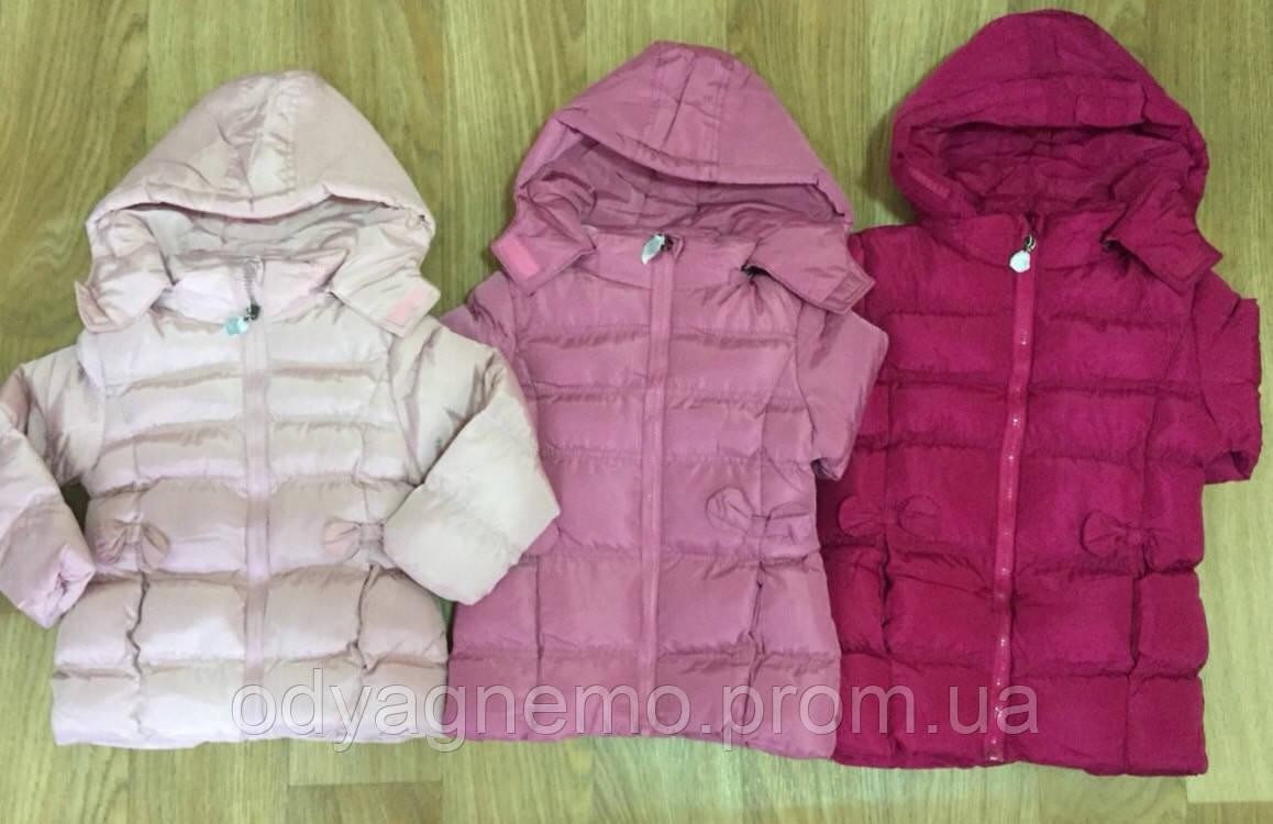 Курточка на меховой подкладке для девочек KE YI QI оптом, 1-5 лет.