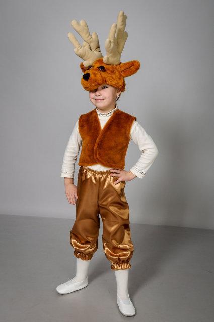 Детский карнавальный костюм Олень атлас (30-34)