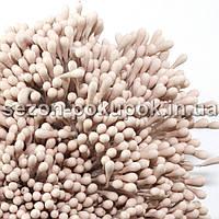 МЕЛКИЕ матовые тычинки 1700-1800 шт на нитке (2мм - головка)  Цвет - ПУДРОВЫЙ