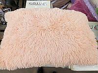 Подушка искусственный мех. Персик. Размер 50*70